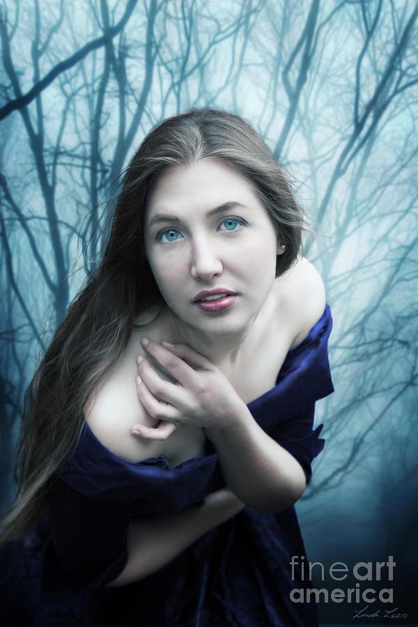 Blue Digital Art - Blue Velvet by Linda Lees