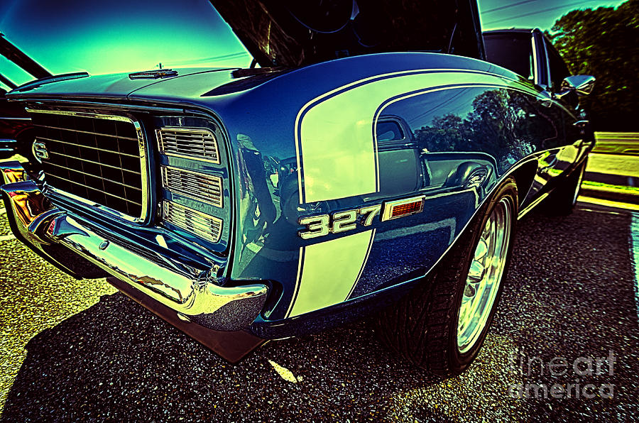Blue Vintage Muscle Car Photograph By Danny Hooks