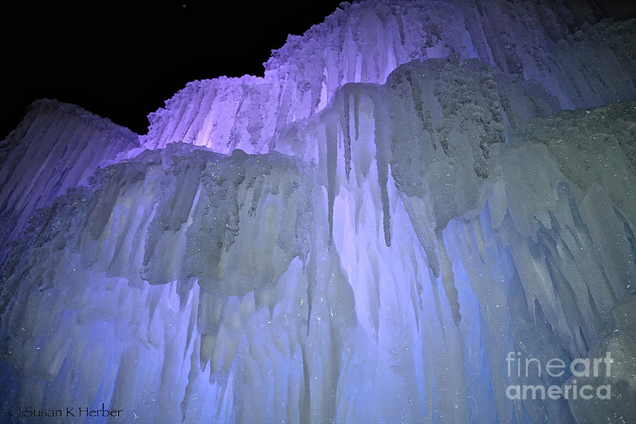 Ice Photograph - Blue Violet Ice Mountain by Susan Herber