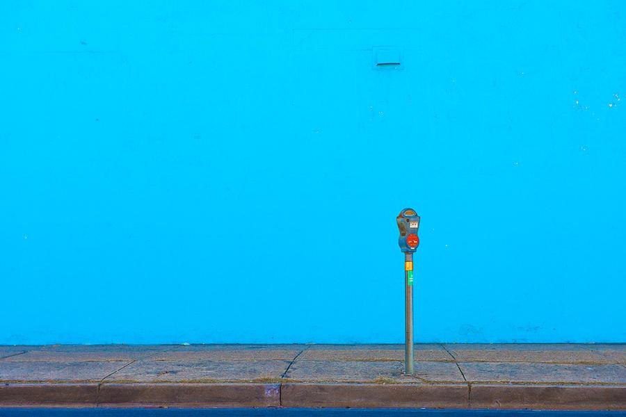 Blue Photograph - Blue Wall Parking by Darryl Dalton