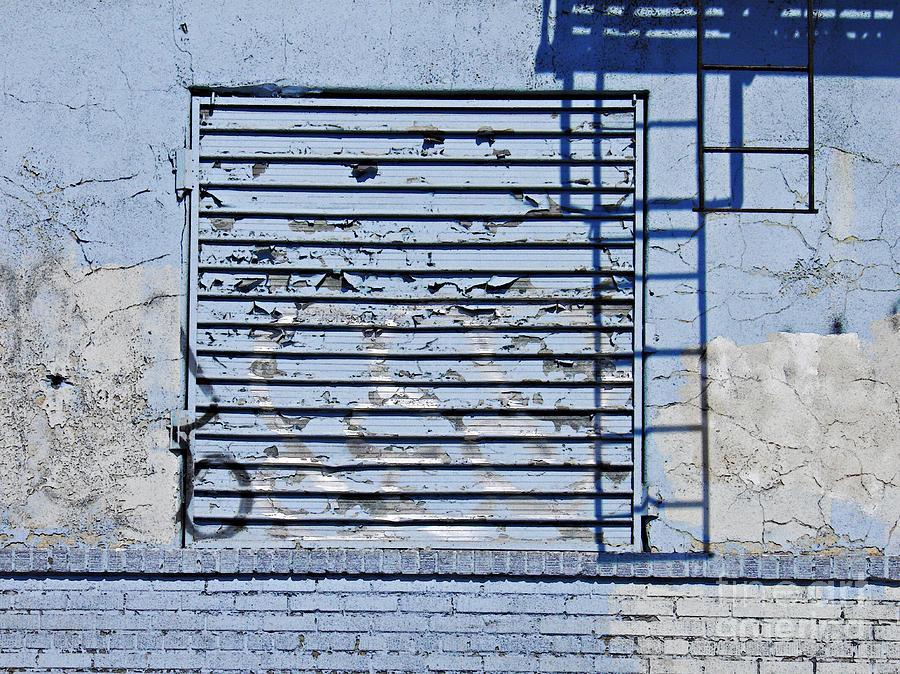 Wall Photograph - Blue Wall by Sarah Loft