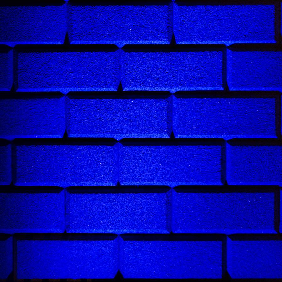 Blue Photograph - Blue Wall by Semmick Photo