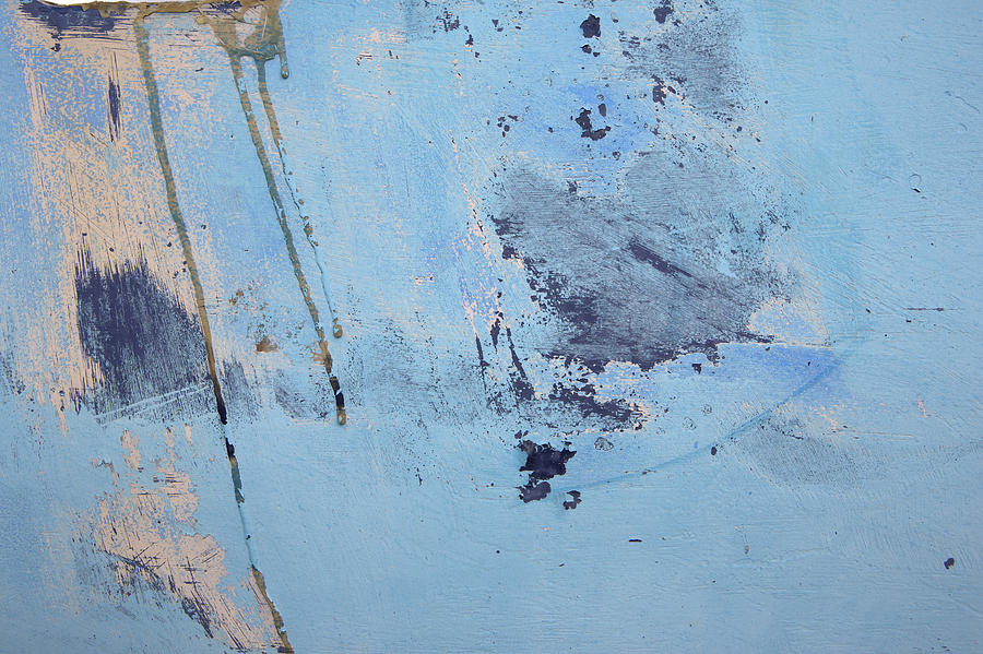 Texture Photograph - Blue Wall Textures 85 by David Hare
