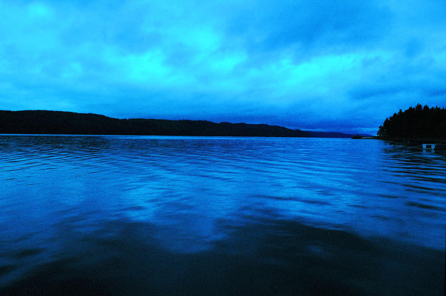 Hood Canal Photograph - Blue Water In The Morn  by Jeff Swan