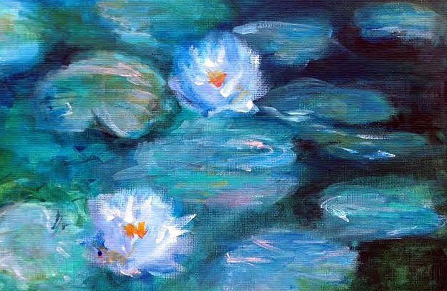 Blue Water Lilies by Lauren Heller