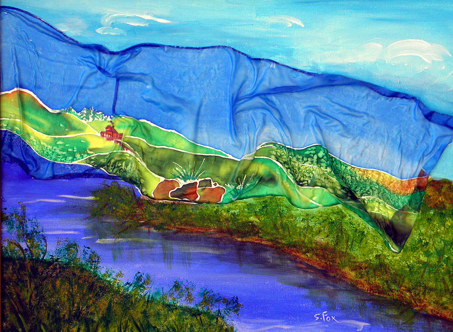 Blue Water Silk by Sandra Fox
