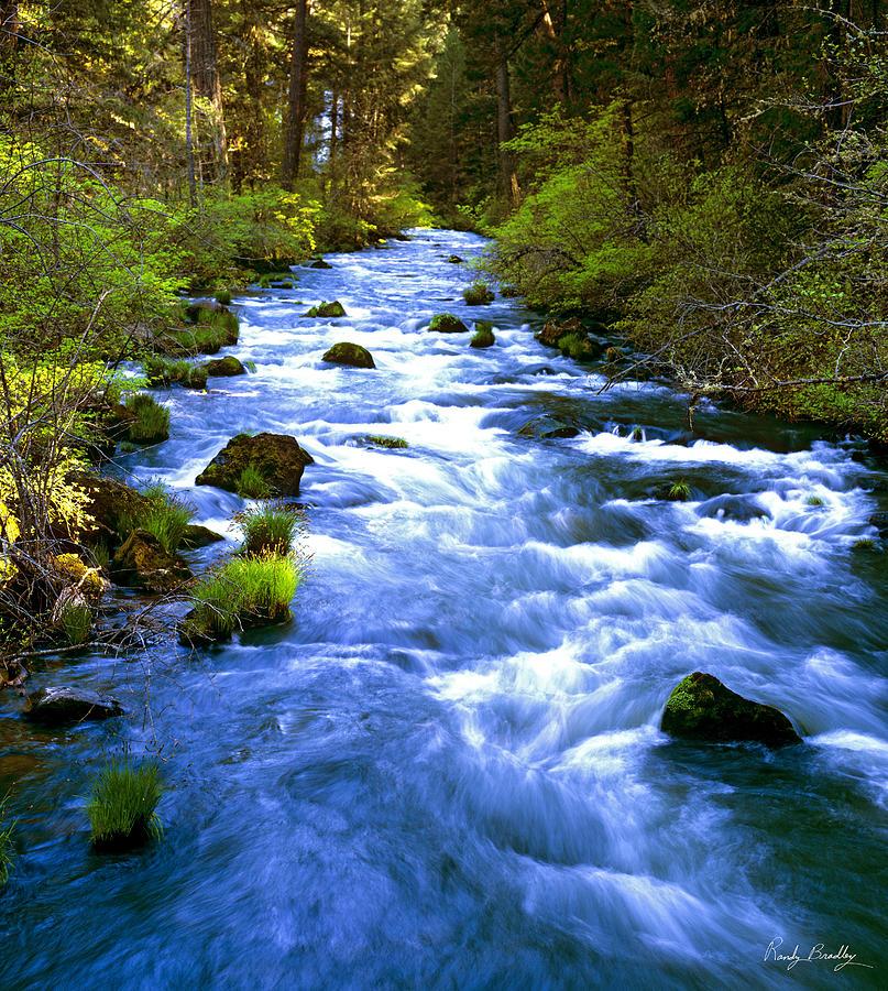 blue water stream photograph by randy bradley