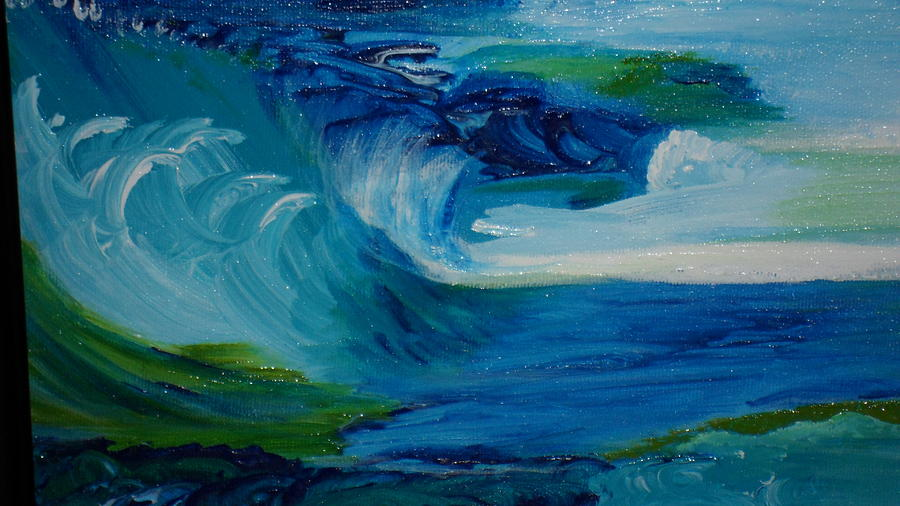 Blue Waters Painting