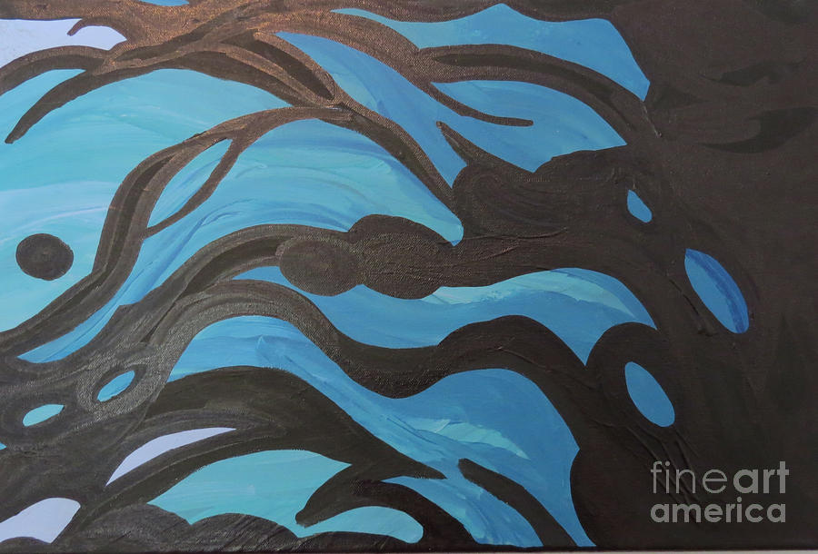 New Age Photograph - Blue Waves Of Healing by Mary Mikawoz