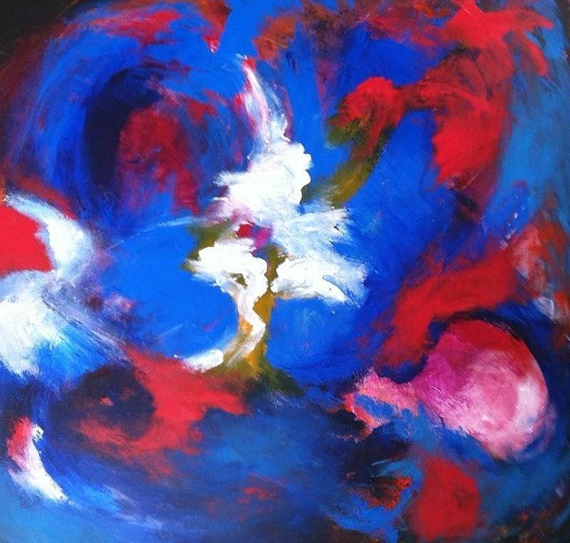 Rassouli Painting - Blue Whirl by Bebe Brookman