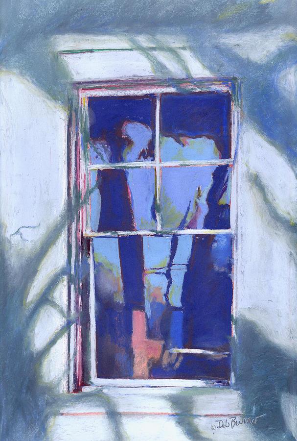 Blue Window Painting - Blue Window by Deborah Burow