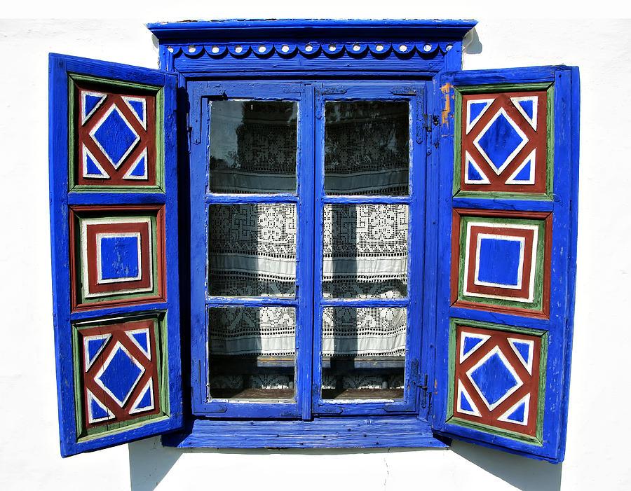 Metal Photograph - Blue Window Handmade by Daliana Pacuraru