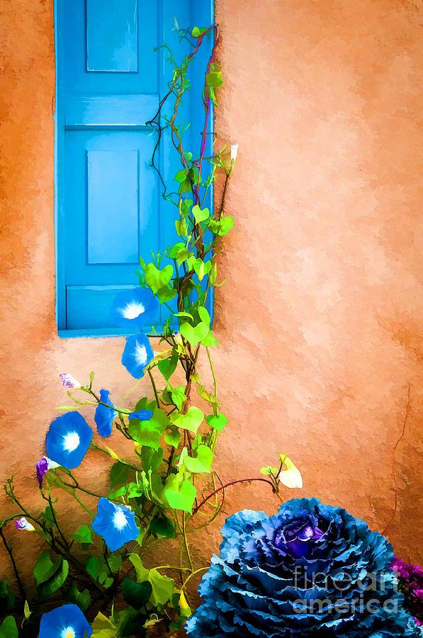 Bob Kendrick Photograph - Blue Window - Painted by Bob and Nancy Kendrick