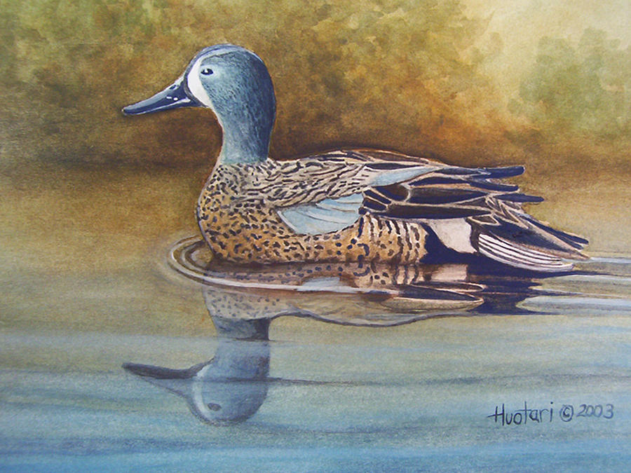 Blue Winged Teal Painting - Blue Winged Teal by Rick Huotari