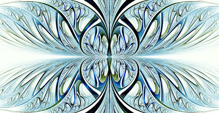 Illuminated Digital Art - Blue Wings by Anastasiya Malakhova