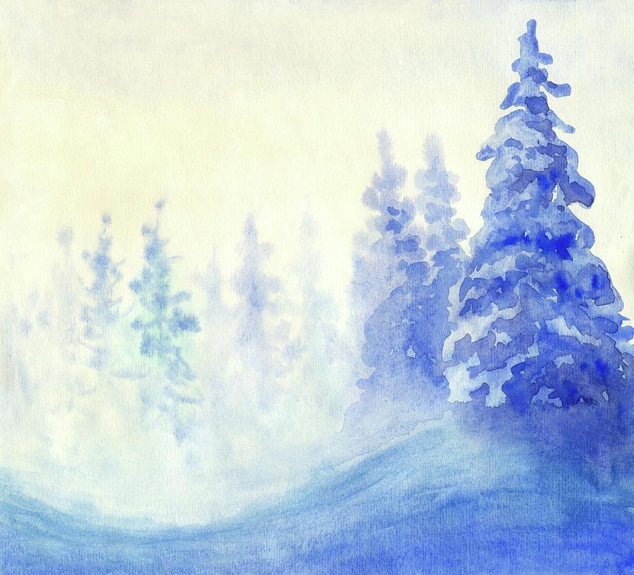 Blue Winter Digital Art by Pobytov