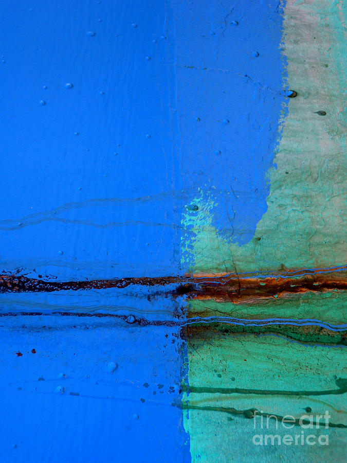 Abstract Photograph - Blue With Streaks by Robert Riordan