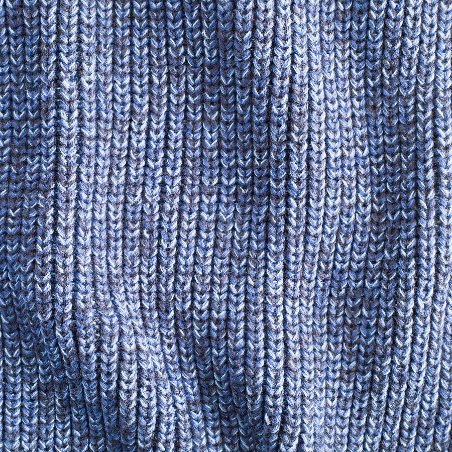 Abstract Photograph - Blue Wool by Tom Gowanlock