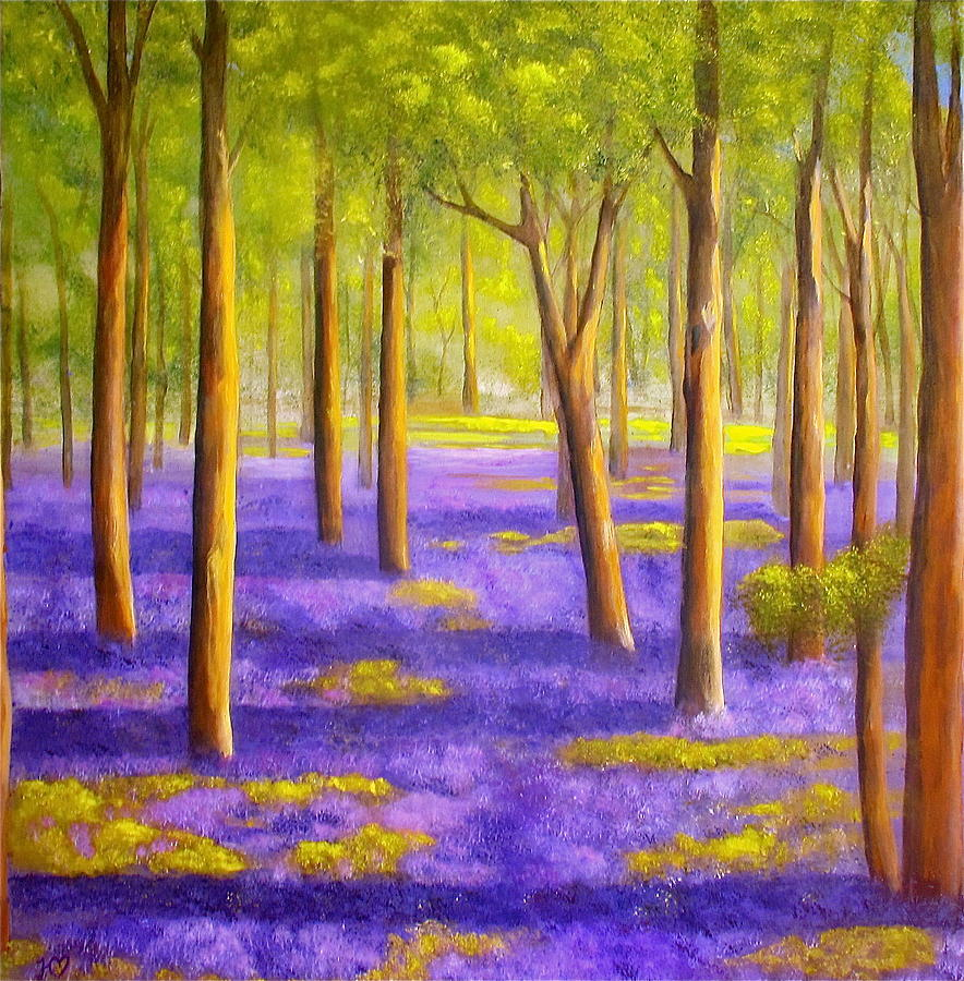 Bluebell Woods Painting - Bluebell Wood by Heather Matthews