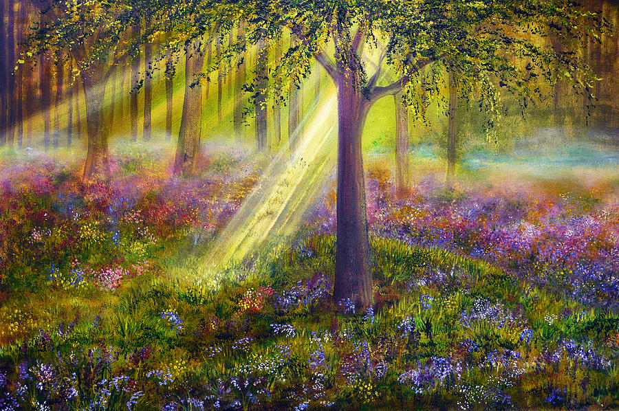 Popular Painting - Bluebell Woods by Ann Marie Bone