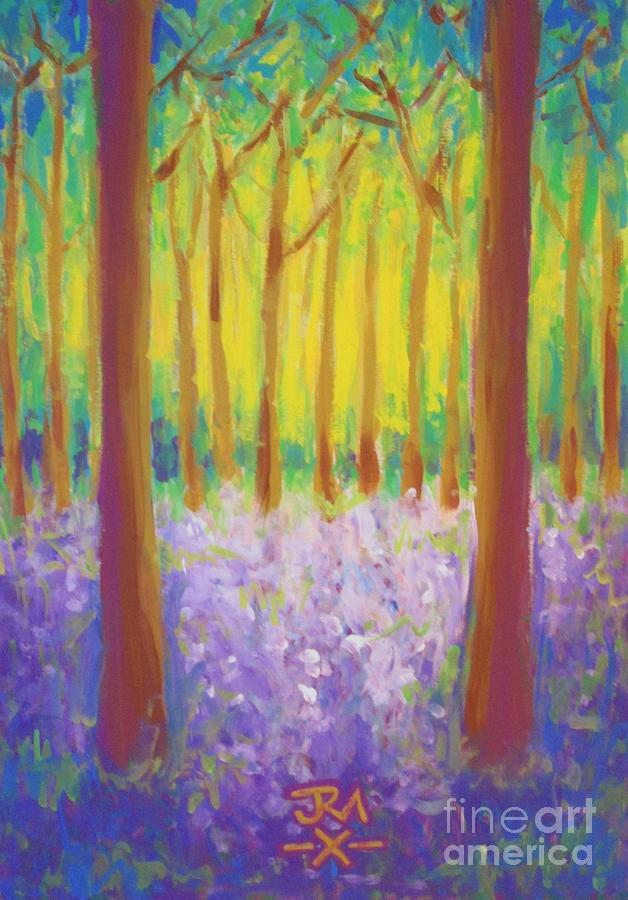 Bluebells Painting by Jedidiah Morley