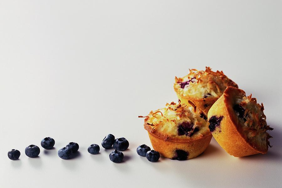 Blueberry-coconut Pound Cakes Photograph by Romulo Yanes
