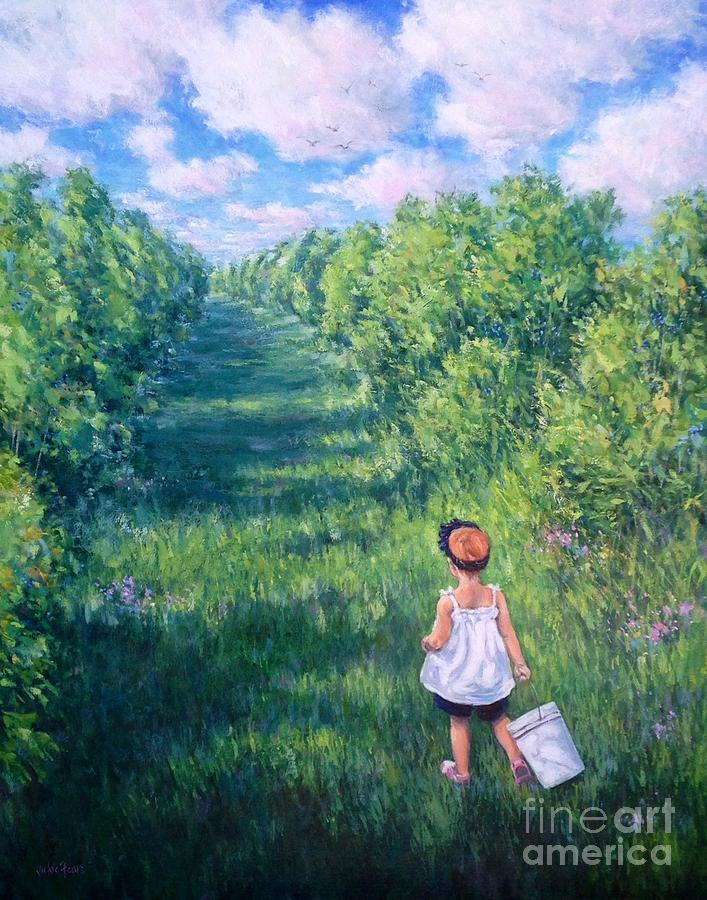 Blueberry Picking by Vickie Fears