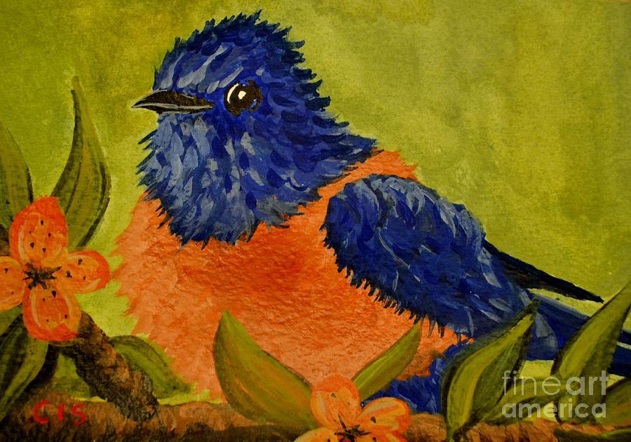 Bluebird Painting - Bluebird by Cecilia Stevens