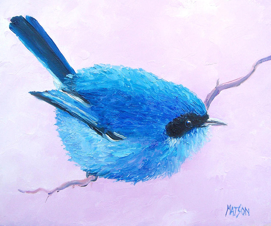 Bird Painting - Bluebird by Jan Matson
