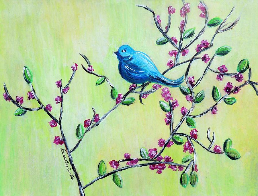 Bluebird Painting - Bluebird by Lauretta Curtis