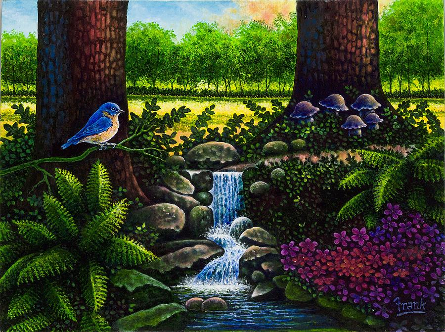 Fantasy Painting - Bluebird by Michael Frank