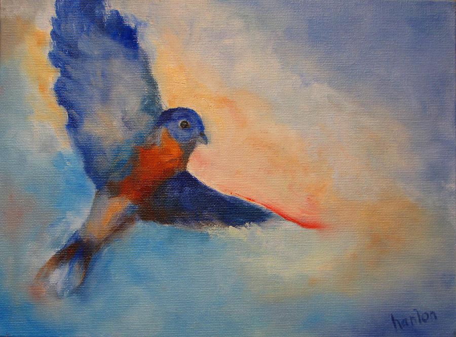 Bluebird Painting - Bluebird by Susan Hanlon