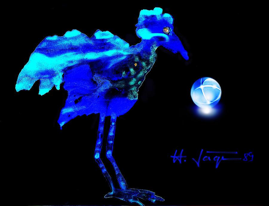 Blue Bird Painting - Bluebird Watching by Hartmut Jager