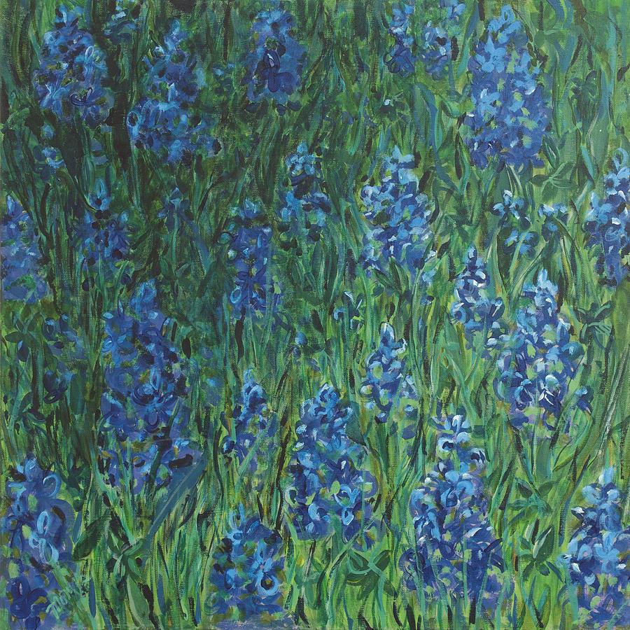 Bluebonnet Painting - Bluebonnet Square by Molly Benson