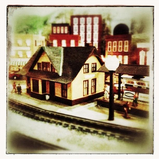 Roanoke Photograph - Bluefield Train Station In Miniature At by Teresa Mucha