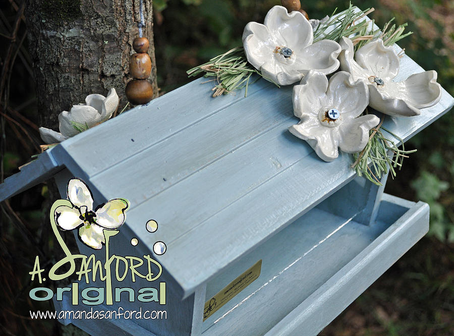 Bluebird Sculpture - Bluegrass by Amanda  Sanford