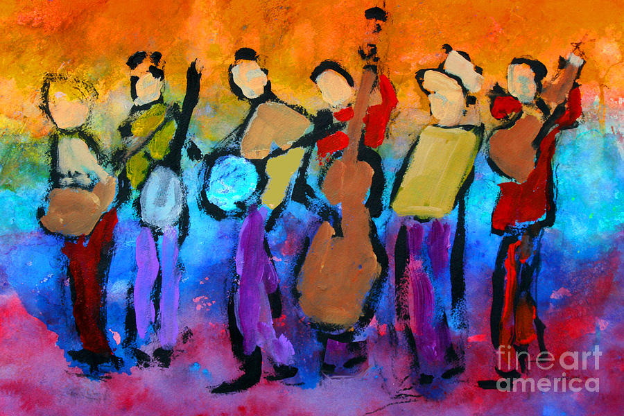 Bluegrass Band Painting - Bluegrass Band by Mordecai Colodner