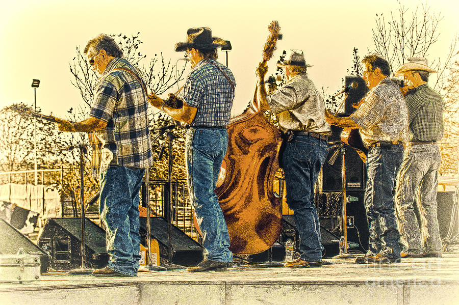 Music Photograph - Bluegrass Evening by Robert Frederick