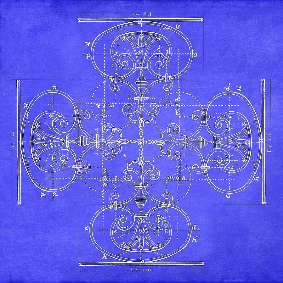 Blueprint maltese cross photograph by suzanne powers living room photograph blueprint maltese cross by suzanne powers malvernweather Choice Image