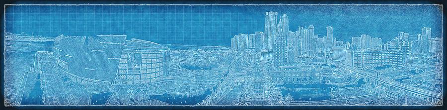 Aaa Photograph - Blueprint Of Downtown Miami by Joe Myeress
