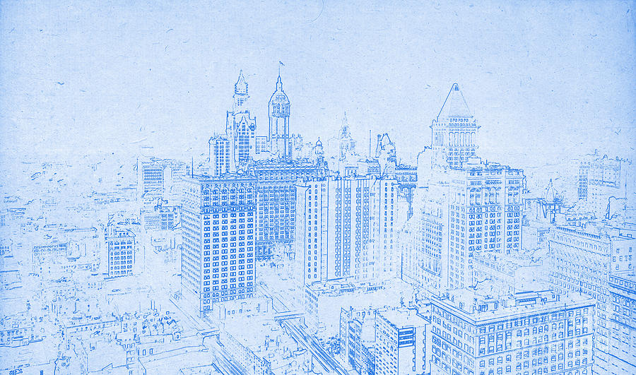 Blueprint of lower manhattan new york 1912 drawing by celestial images blueprint drawing blueprint of lower manhattan new york 1912 by celestial images malvernweather Gallery