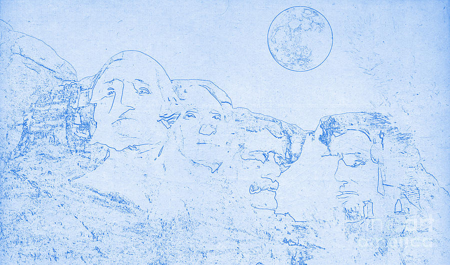 Blueprint of mount rushmore in south dakota digital art by celestial blueprint of mount rushmore in south dakota digital art by celestial images malvernweather Gallery
