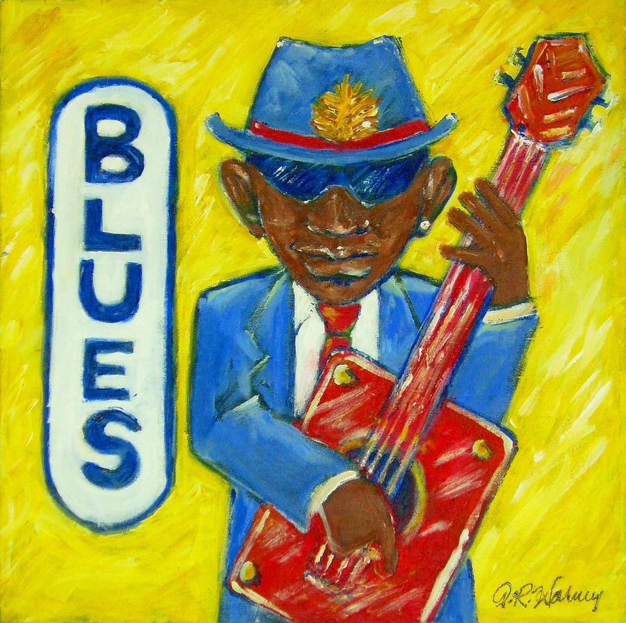 Blues Painting by Aaron Harvey