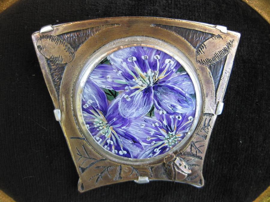 Ladybug Jewelry - Blues And Ladybug by Brenda Berdnik