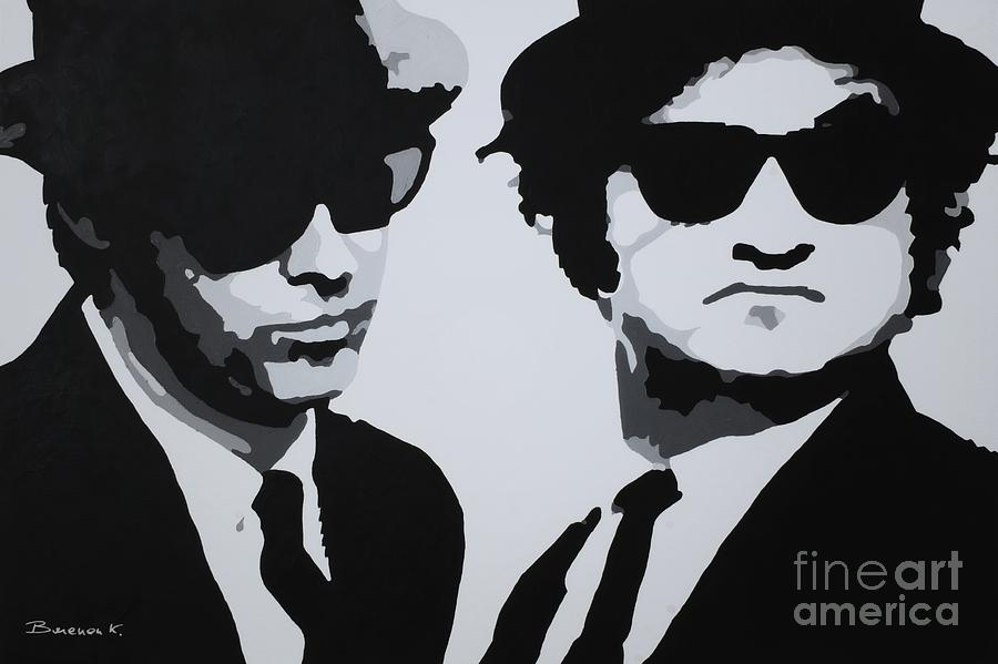 Blues Brothers Painting - Blues Brothers by Katharina Filus