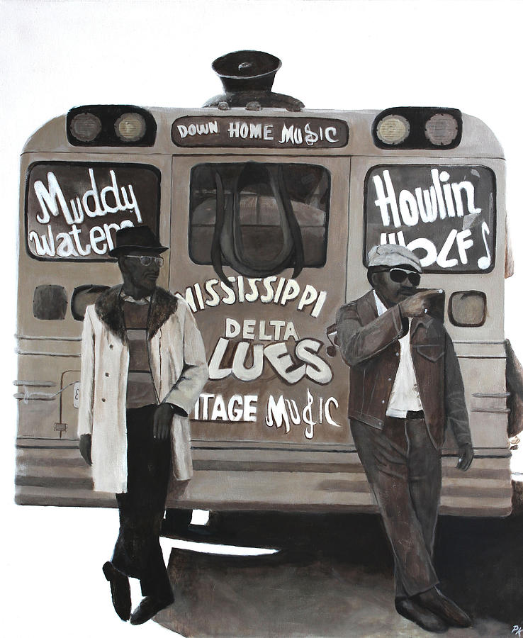 Howlin Wolf Painting - Blues Bus by Patrick Kelly