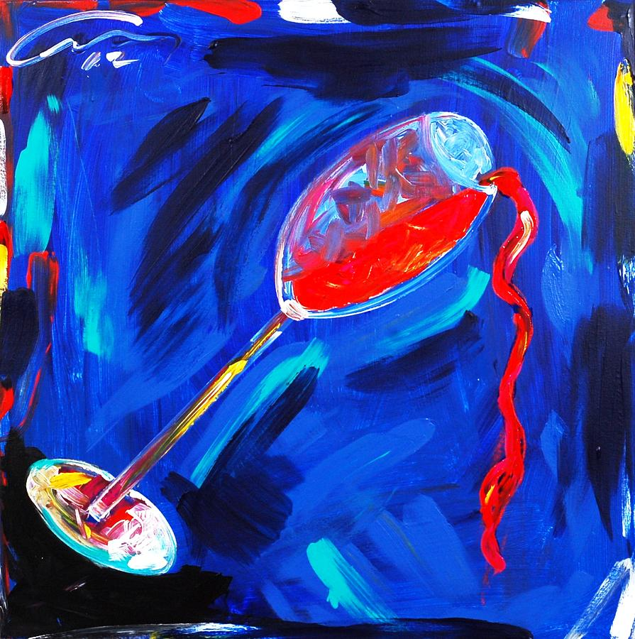 Painted Painting - Blues Club by Mac Worthington