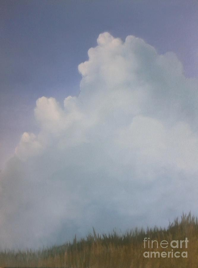Clouds Painting - Blues Creek by Cynthia Vaught