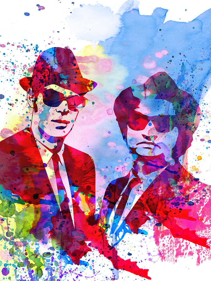 Blues Brothers Painting - Blues Watercolor by Naxart Studio