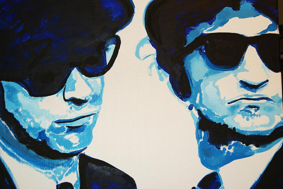 The Blues Brothers Painting - Bluesbro by Ottoniel Lima